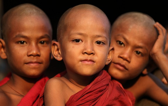 Myanmar, monks and novices -