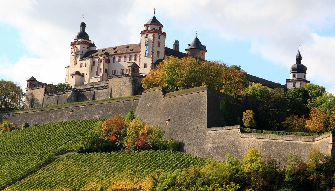 Taking the path to the Marienberg Fortress, Wurzberg, Germany - Marienberg Fortress