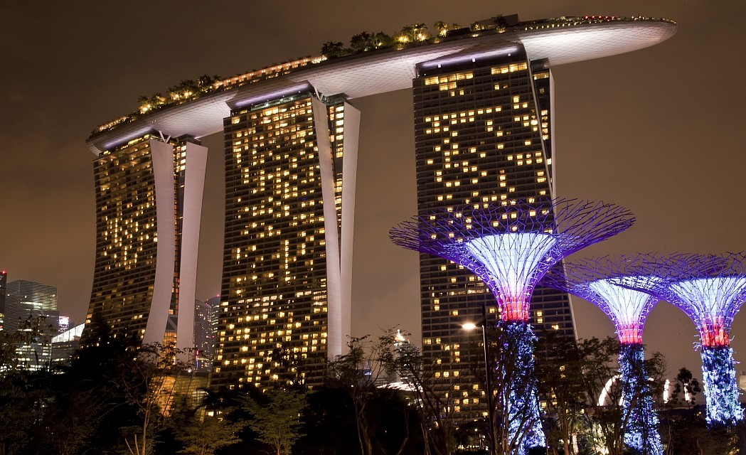 Marina Bay Sands from Gardens by the Bay - Marina Bay Sands