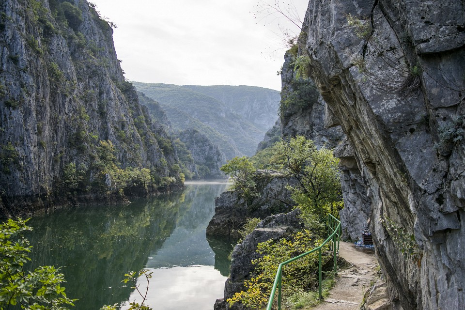 Matka Canyon Path - Matka Canyon
