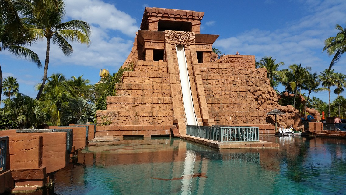 Mayan Temple Waterslide & Nurse Shark - Mayan Temple