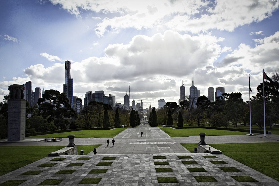 St Kilda Rd and Melbourne CBD Towers - Melbourne