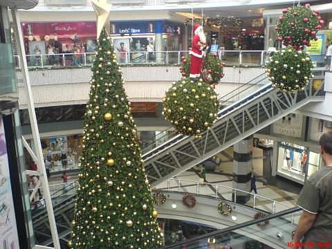 Christmas at the mall -