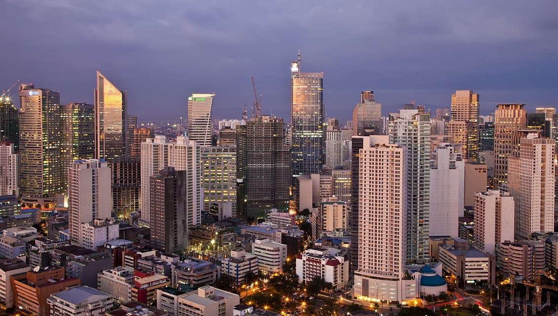 Makati as seen from the Beacon residential