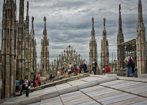 Roof of the Duomo di Milano - Milan Cathedral