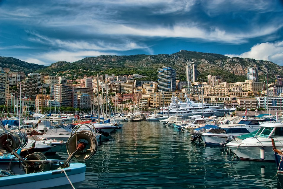 Avenue of Yachts in Monaco - Monaco