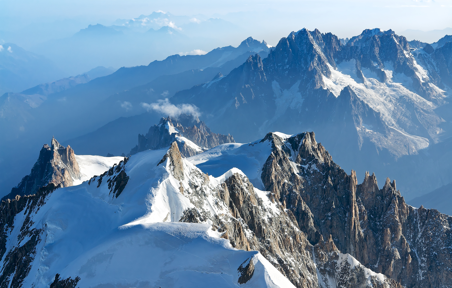 mont blanc massif mountain range in thousand wonders