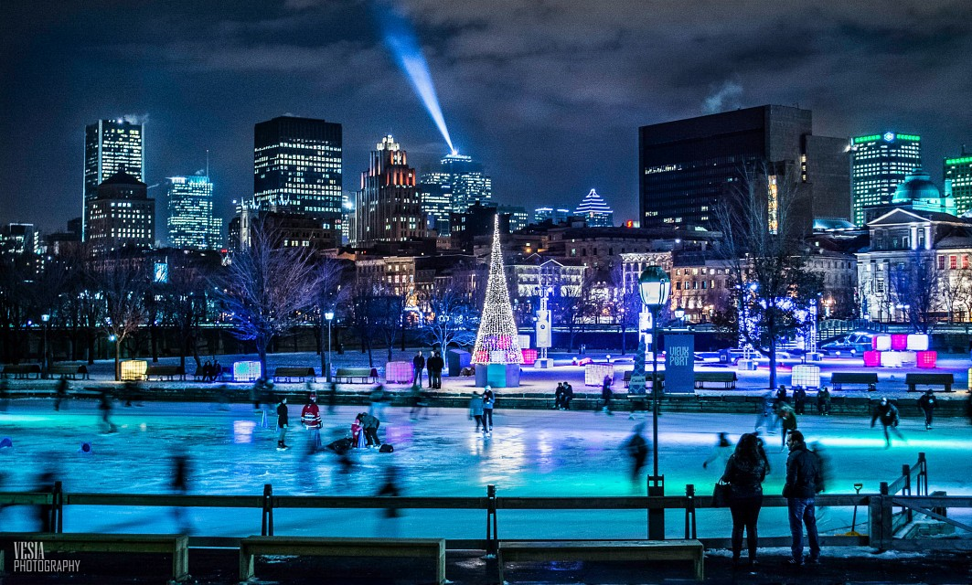 Night Skating with a View - Montreal