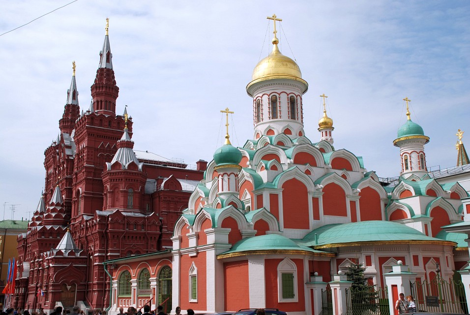 Kazan temple and Historical muzeum - Moscow