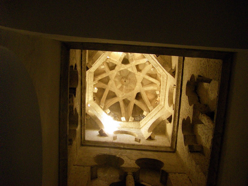 Under the Dome of the old Mosque of Cristo de la Luz - Mosque of Cristo de la Luz