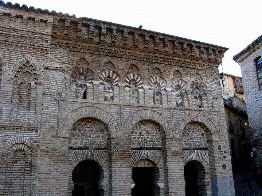 Arab decoration, facade of the Cristo de la Luz mosque, Toledo, Spain - Mosque of Cristo de la Luz