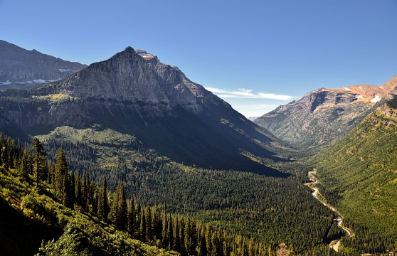 Mount Cannon and a Valley Below (Glacier National	Park) - Glacier National Park