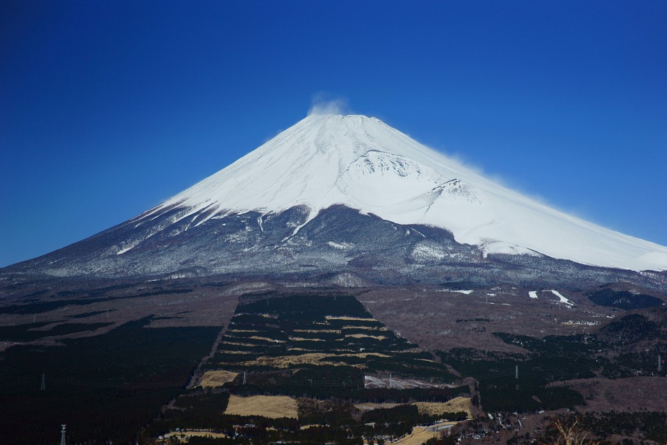 ice and snow - Mount Fuji