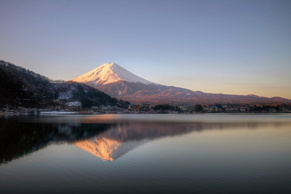 fuji morning reflections - Mount