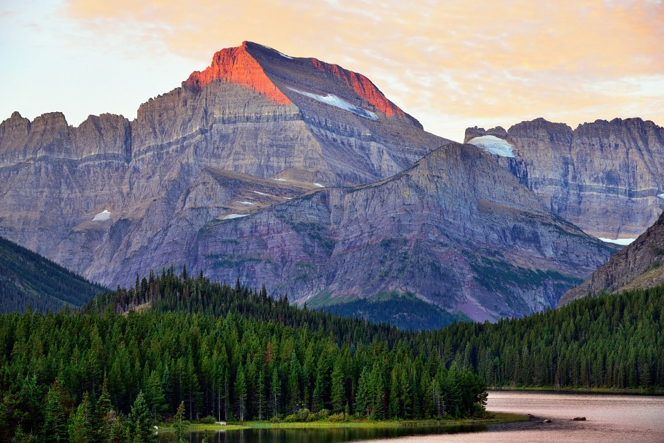 Mount Gould and a View to the Continental Divide (Glacier National Park) - Mount Gould