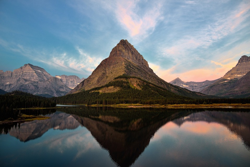 Reflections of Grinnell Point (Glacier National Park) - Mount Grinnell