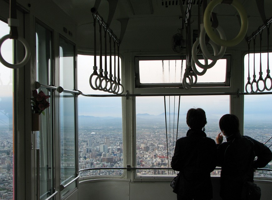 Enjoying the View - Mount Moiwa Ropeway