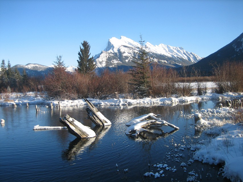 View Of Mount Rundle From Vermillion Lakes - Mount Rundle