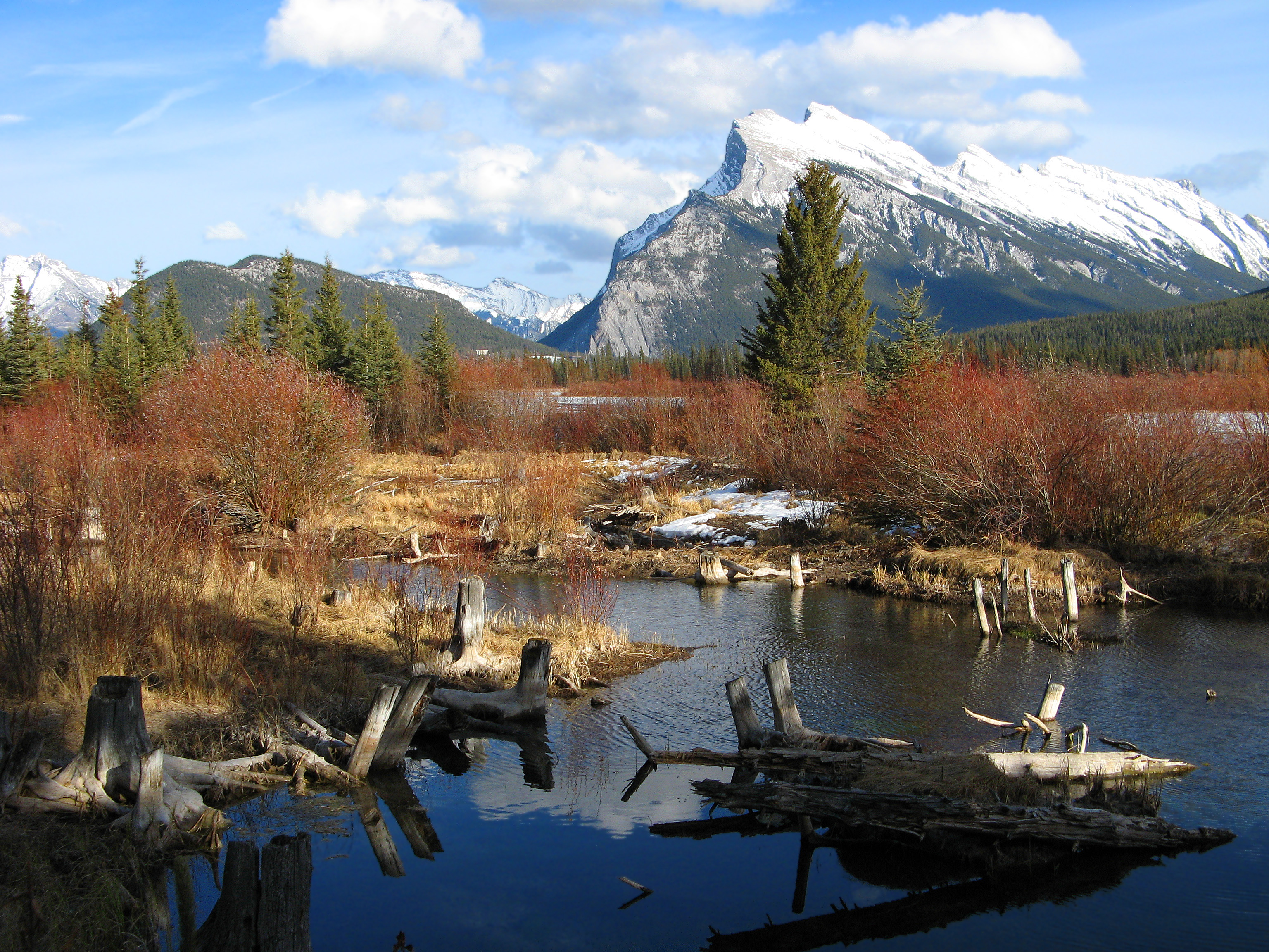 mount rundle - mountain in banff national park