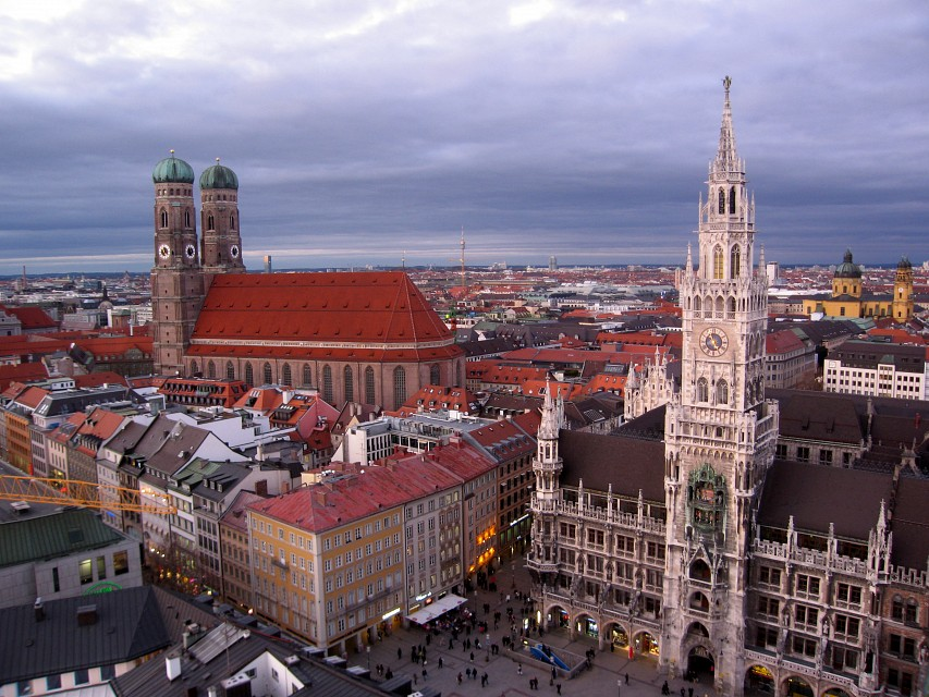 Marienplatz and Frauenkirche -