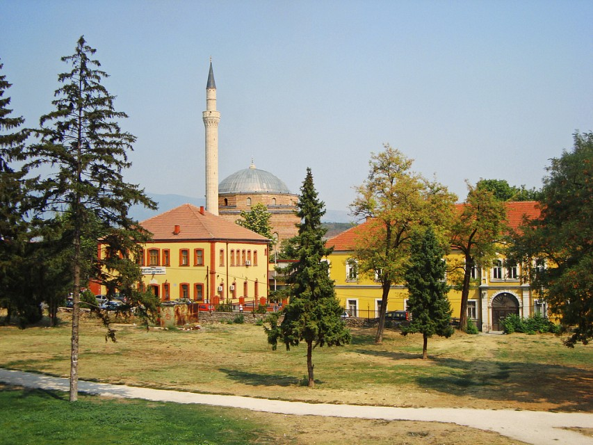 Mustafa Pasha Mosque behind the IBU, Skopje, Macedonia - Mustafa Pasha Mosque