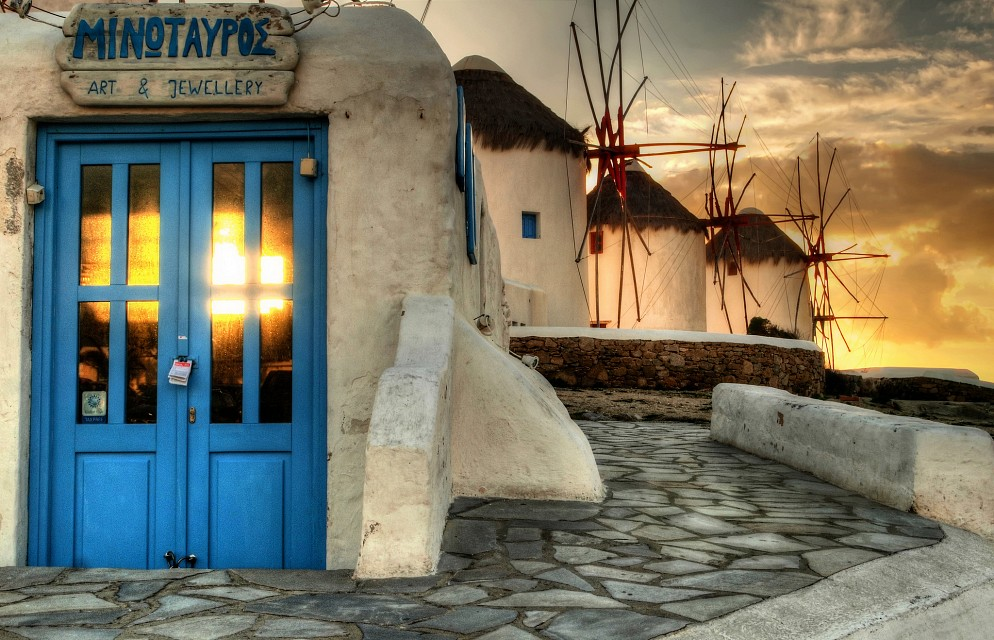 mykonos sunset... (puzzle version) - Mykonos