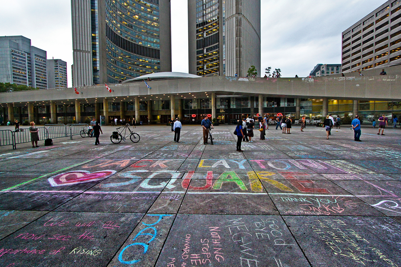 nathan phillips square plaza in toronto thousand wonders