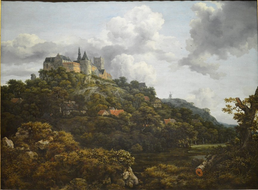 Jacob van Ruisdael - The Castle of Bentheim, 1653 - National Gallery of Ireland