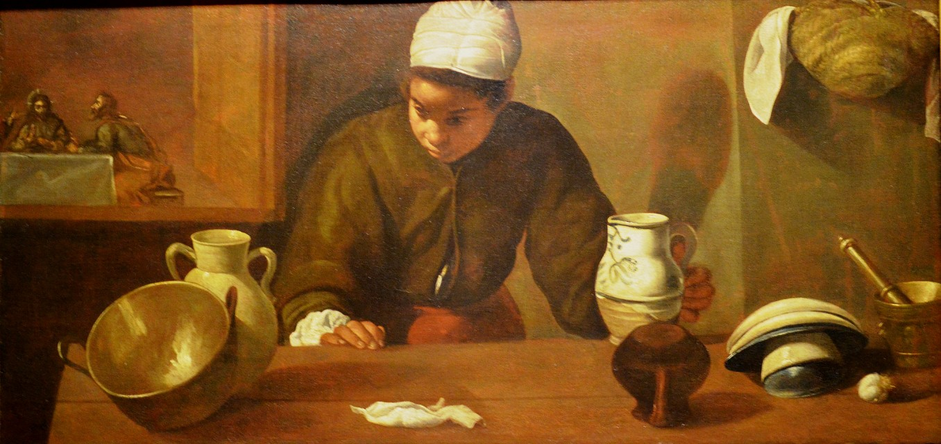Diego Velazquez - Kitchen Maid with the Supper at Emmaus 1617-18 - National Gallery of Ireland