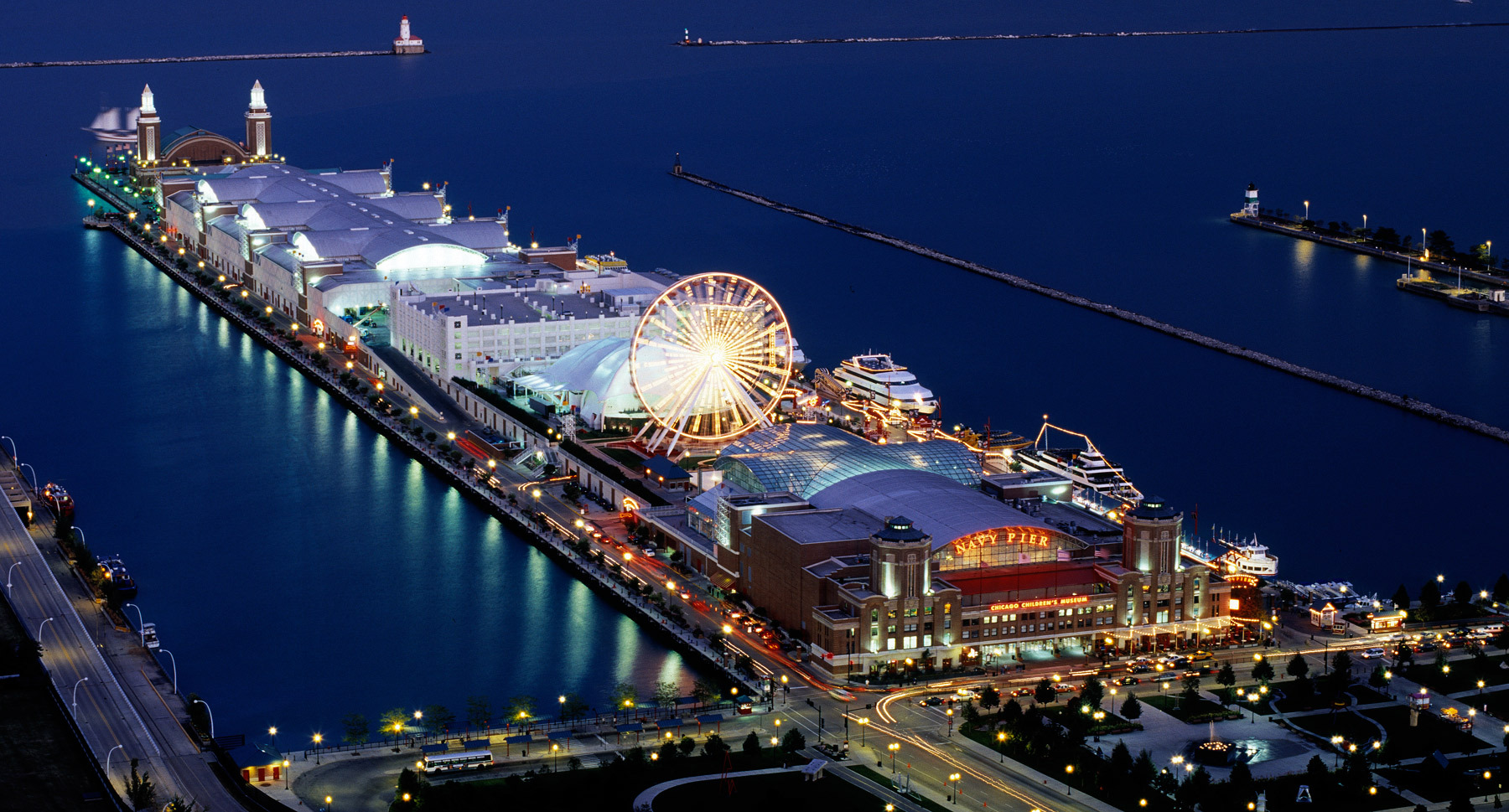 Navy Pier Theme Park In Chicago Thousand Wonders - Chicago map navy pier