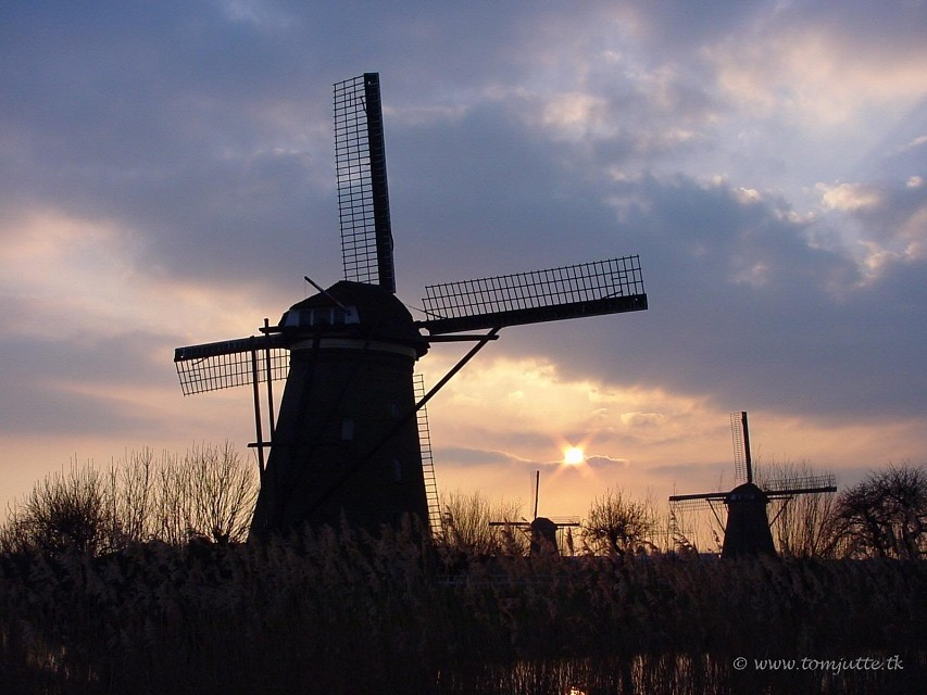 Dutch Windmill, Kinderdijk, Netherlands - 3707 - Netherlands