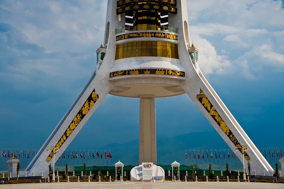Arch of Neutrality (Ashgabat - Turkmenistan) - Neutrality Monument