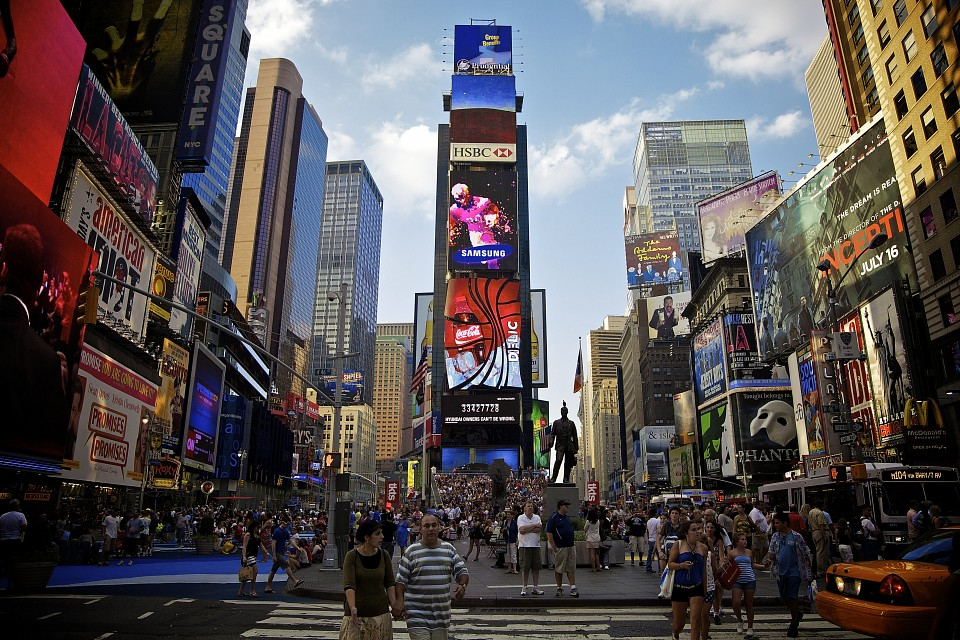 Times Square in Manhattan - New York City