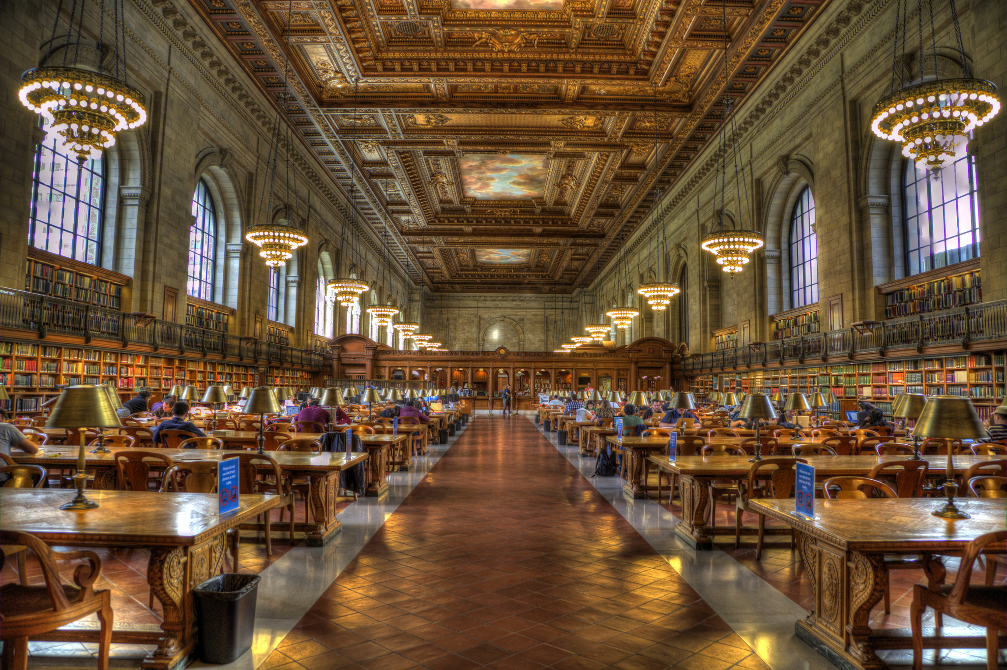 New york public library public building in new york city for Image city interiors