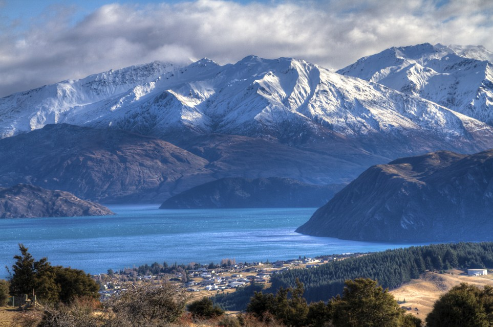 Lake Wanaka, Mount Aspiring National Park from the top of Mount Iron - New Zealand