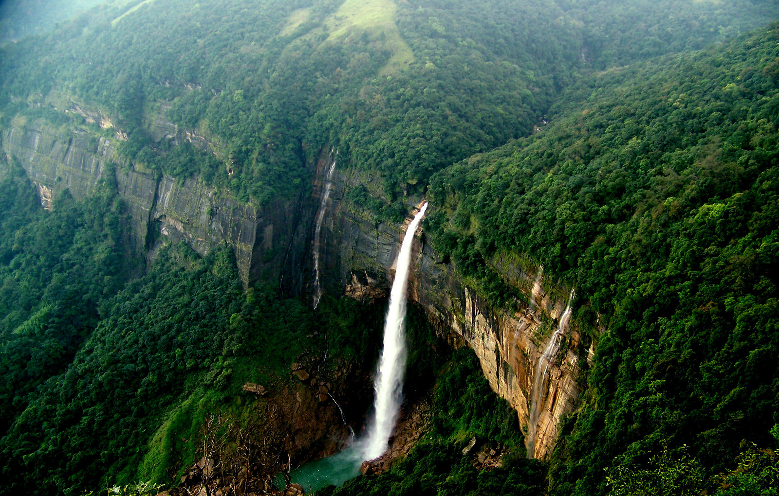 Nohkalikai Falls Waterfall In India Thousand Wonders