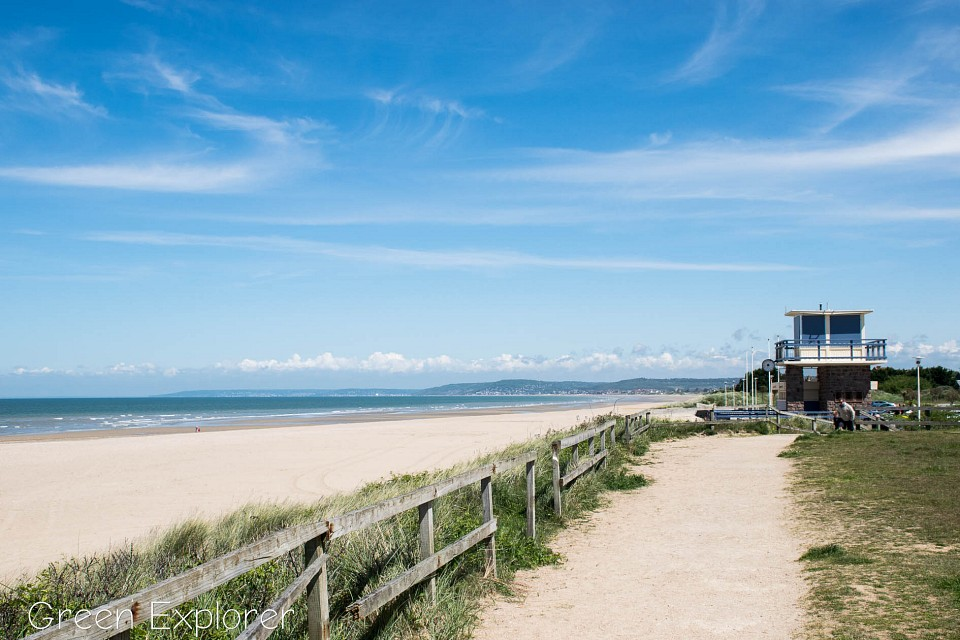 The beach at Franceville-Merville, Normandy -