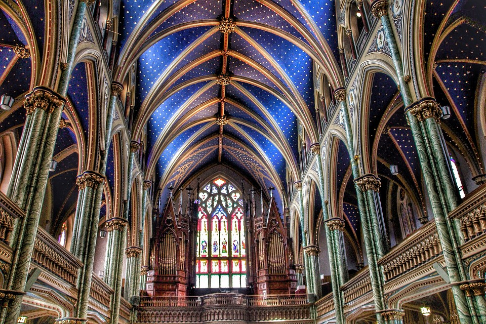 Ottawa Ontario ~ Canada ~ Notre-Dame Cathedral Basilica ~ National Historic Site of Canada - Notre-Dame Cathedral Basilica Ottawa