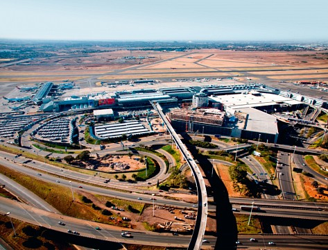 Oliver Tambo International Airport aerial view. - O. R. Tambo International Airport