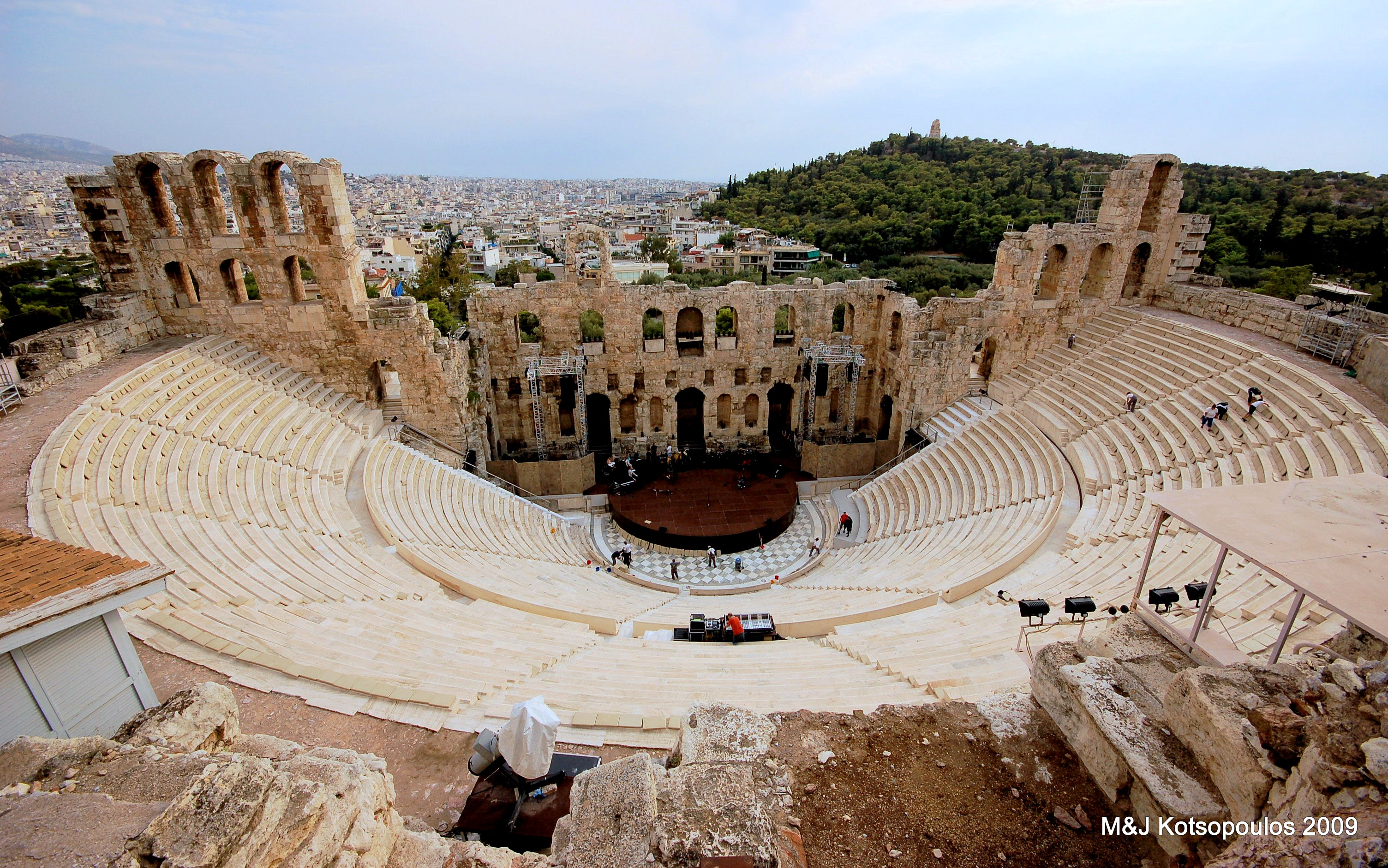 Odeon of Herodes Atticus - Amphitheater in Acropolis ...
