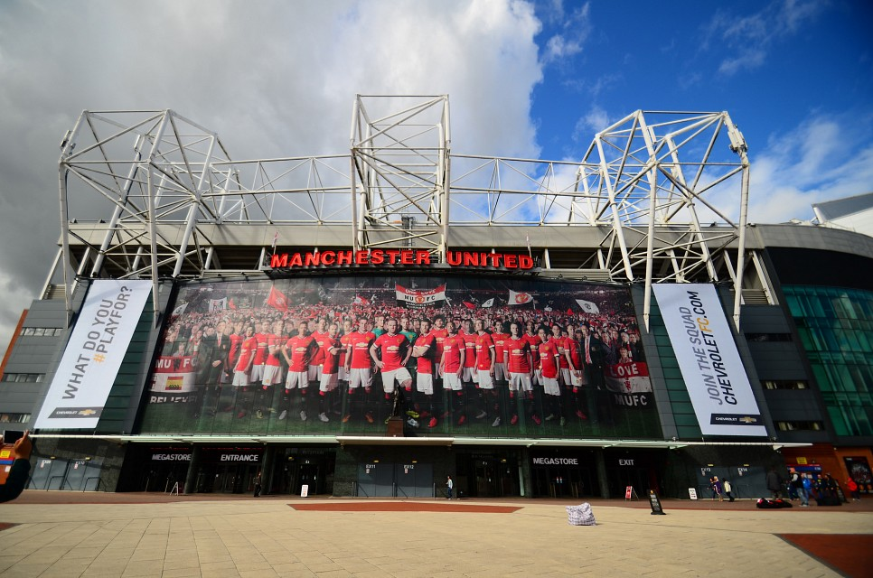 Front Face of Manchester United's Old Trafford Football Stadium - Old Trafford