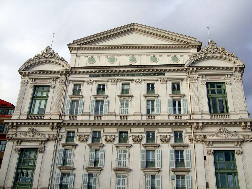 Rear of Nice Opera House - Opéra de Nice