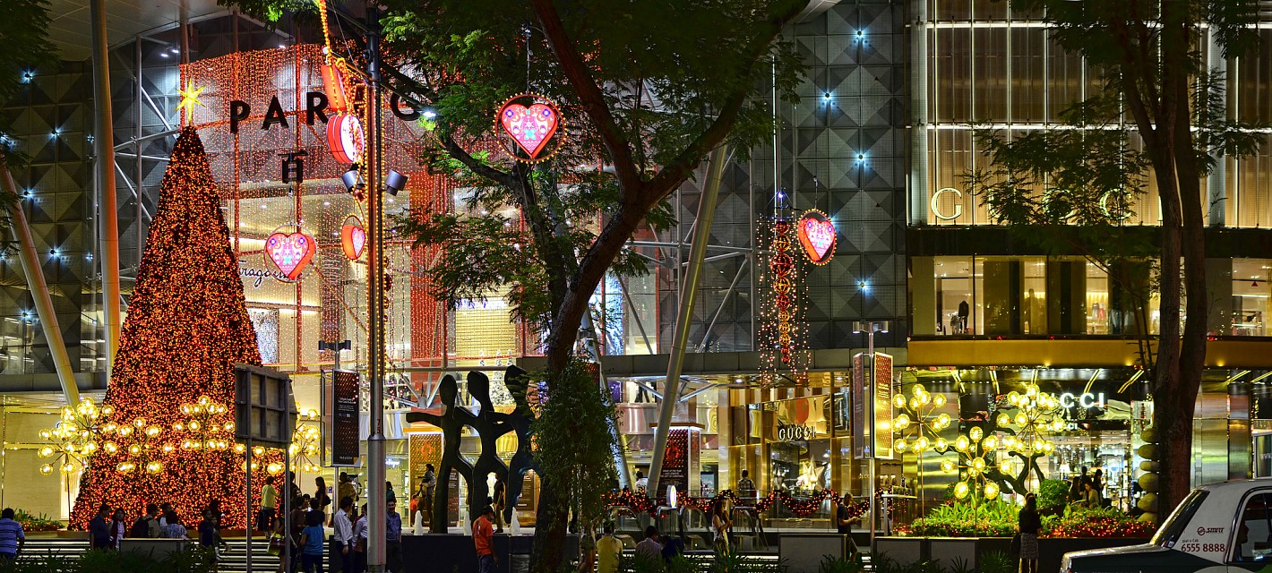 Paragon Shopping Mall Christmas Lights - Orchard Road