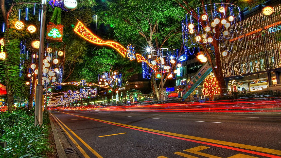 Christmas/New Year Decorations on Orchard Road,