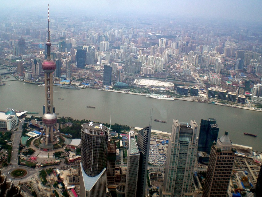 Shanghai from the World Financial Center - Oriental Pearl Tower