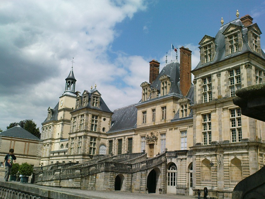 Fontainebleau - Francis I courtyard - Palace of Fontainebleau