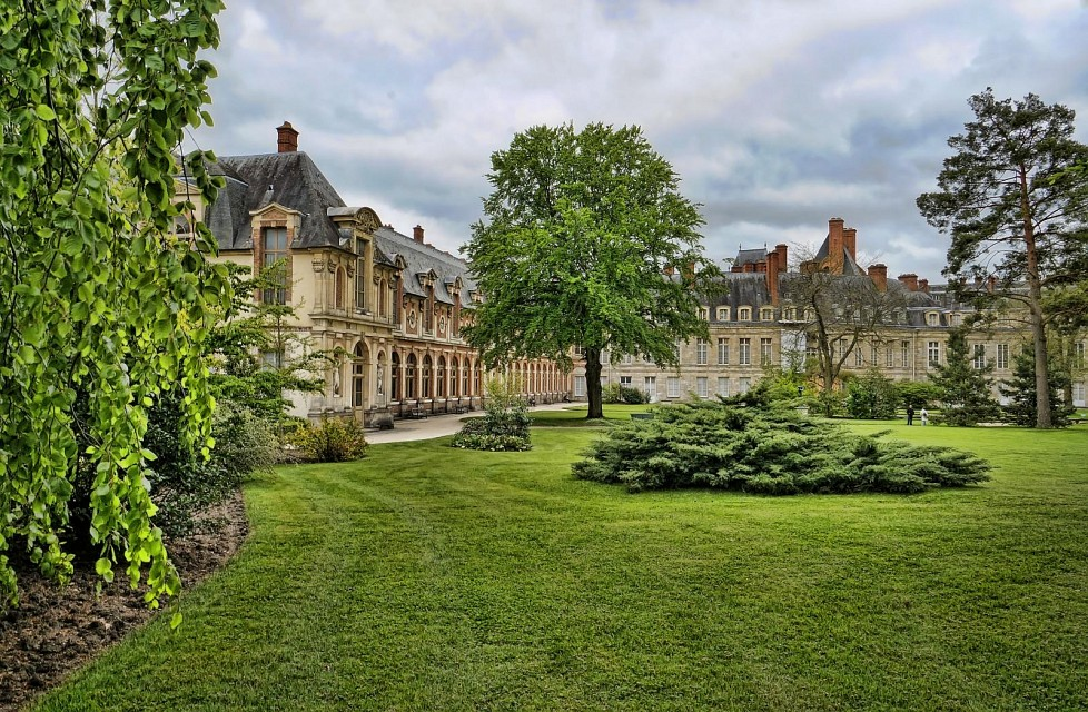 Gardens of Fontainebleau Royal Palace in France - Palace of Fontainebleau