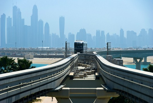 "Monorail on ""The Palm