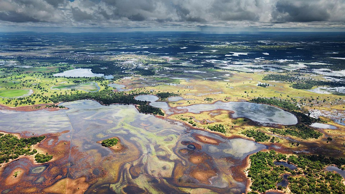 Flood plains in the Pantanal, Brazil -