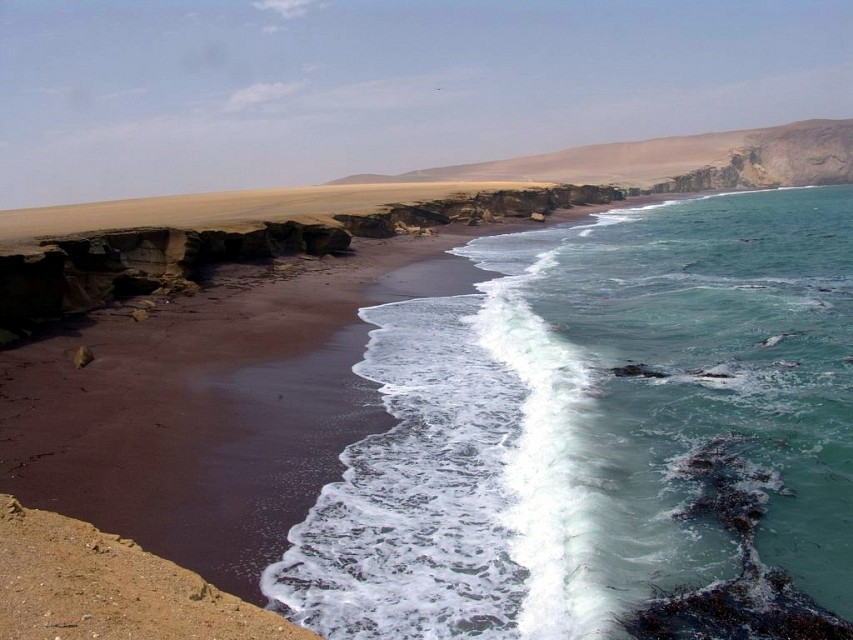 red sand - Paracas National Reserve